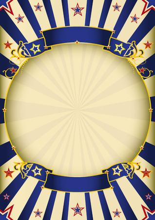 un poster circo d'epoca con una cornice cerchio per la tua pubblicità