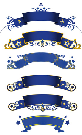 A set of blue banners for you Vector
