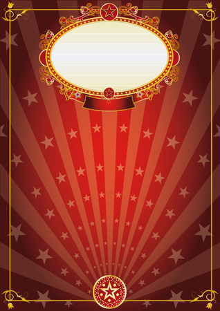 A vintage red background with sunbeams for your advertising Vector
