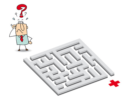 bureaucracy: a big problem as he wants to get through the maze goal