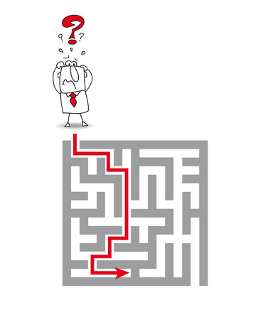 hardship: complex maze Illustration