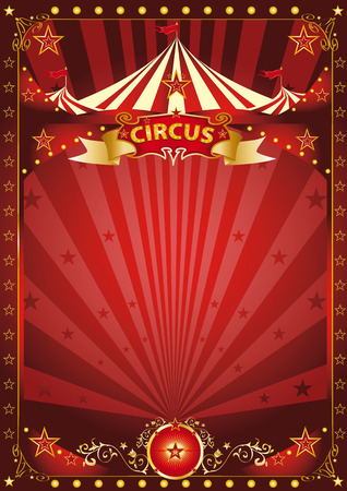 revue: A background with a large copy space and a big top Illustration