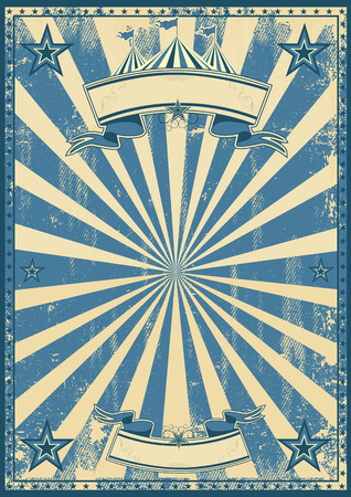 marquee tent: A blue vintage circus background for a poster