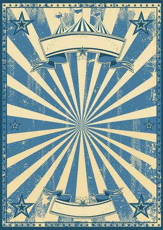 Un millésime fond de cirque bleu pour une affiche Banque d'images - 31438132