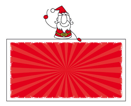 santa claus with a horizontal banner for your message.Enjoy ! Vector