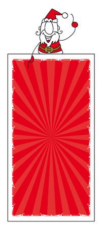 x mas: santa claus with a vertical banner