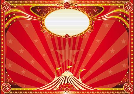 Een horizontale circus achtergrond voor je show.
