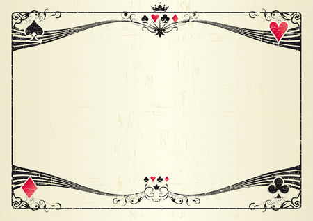 A grunge horizontal background for a poker tournament. Ideal for a screen or a tablet Vector