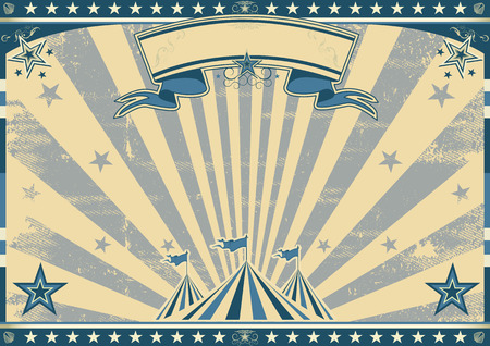 circus stage: a circus vintage poster for your advertising. Perfect size for a screen. Illustration