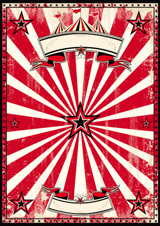 A red and black vintage circus background for a poster
