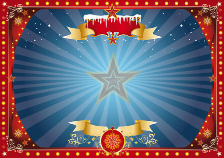 A horizontal circus poster on the christmas theme for your screen... Enjoy Vector