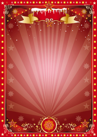 Merry christmas and happy new year. A poster on the christmas theme for your... Enjoy Vector