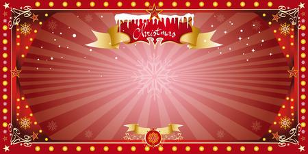 kerst markt: Een wenskaart voor kerst of het nieuwe jaar