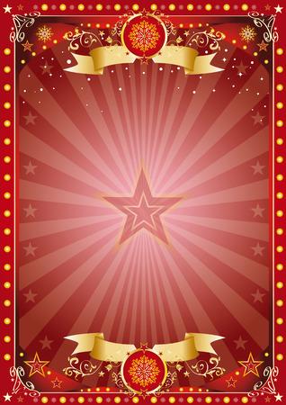 fondo de circo: Feliz navidad y feliz año nuevo. Un cartel en el tema de la Navidad para su ... Disfrute Vectores