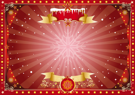 A horizontal circus poster on christmas theme for your screen... Enjoy ! Vector