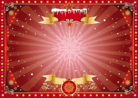 A horizontal circus poster on christmas theme for your screen... Enjoy ! Illustration