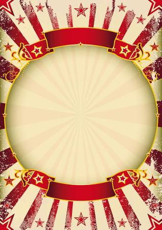 Ein Zirkus Weinleseplakat mit einem Kreis Rahmen für Ihre Werbung. Standard-Bild - 31801131