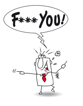 insulto: Car�cter enojado