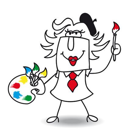 """artes plasticas: Pen�lope es una mejores manager.this las mujeres es un  """"gerente artista """" Vectores"""