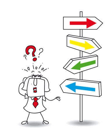 Karen wants to find a solution. you walk your way Karen, it Illustration