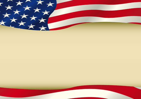 president of the usa: An horizontal american waving flag with a large copy space for your message. Ideal to use for a screen