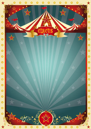 A retro circus poster for your entertainment. 일러스트