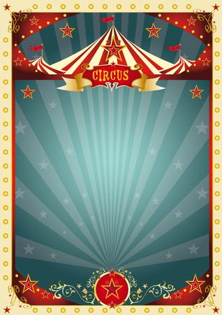 Une affiche de cirque rétro pour votre divertissement. Banque d'images - 32098942
