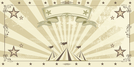 circus stage: A Circus kraft invitation for your entertainment.