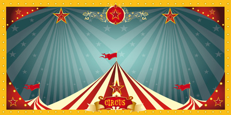 A fun circus banner for an invitation Stock Illustratie