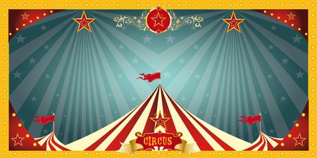 A fun circus banner for an invitation Vettoriali
