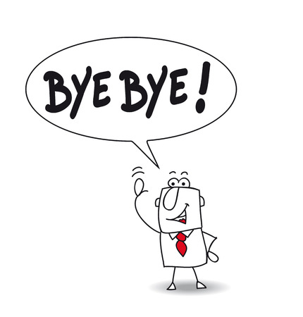the farewell: Este hombre dice bye bye !!!