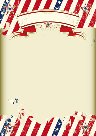 American dirty poster with a large empty kraft paper frame for your message 向量圖像
