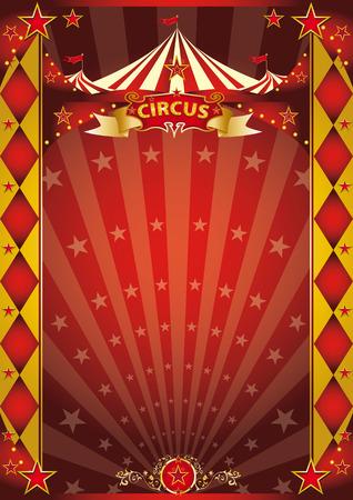 cabaret stage: Un cartel de circo retro con los rayos solares para su entretenimiento. Vectores