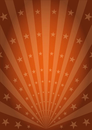 carnival: An abstract circus poster with sunbeams and stars