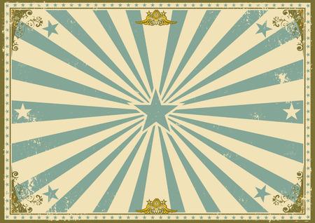 vintage: Een uitstekende affiche met zonnestralen Stock Illustratie