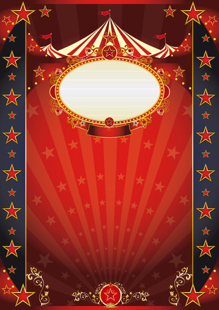 circus tent: A retro circus poster for your show with sunbeams.