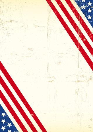 A grunge greeting background of America for your event Vector