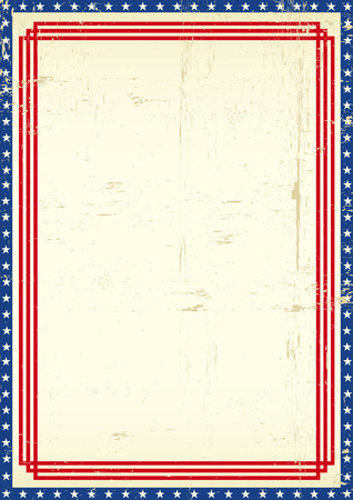 A grunge greeting poster of America for you