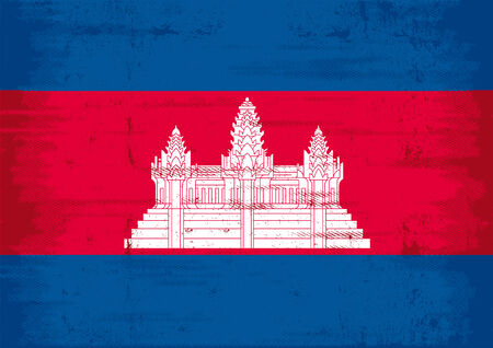 cambodia: A flag of Cambodia with a texture