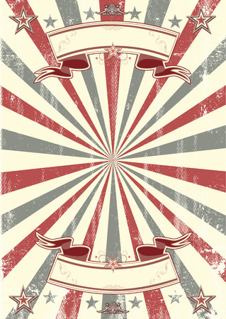 paper art: A vintage background with two ribbons; ideal poster for your show