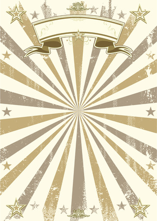 A retro circus background with sunbeams. Ideal poster for your show