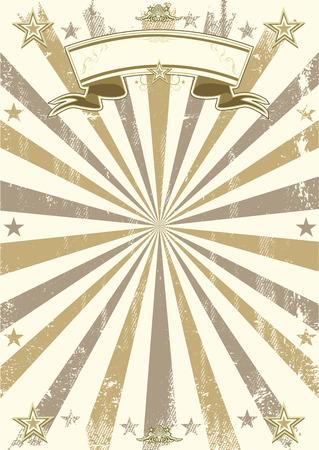 cabaret: Un fond de cirque r�tro avec des rayons de soleil. Affiche Id�al pour votre spectacle Illustration