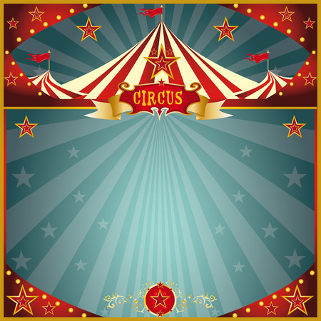 big top tent: A circus square greeting card for you.