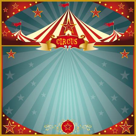 Una tarjeta de felicitación plaza circo para usted. Foto de archivo - 33439749