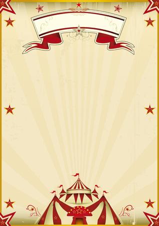 fondo de circo: Un cartel de circo kraft para usted nuevo espectáculo. Disfrute!