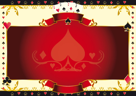 A background for your Poker Tournament with a heart shape. Write your message on the empty frame. Dimensions are ideal for a screen Banco de Imagens - 33440707