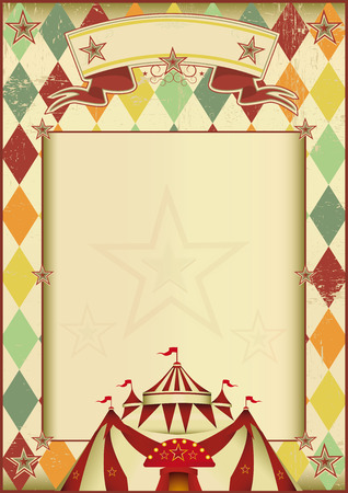 A vintage circus poster with rhombuses for your show