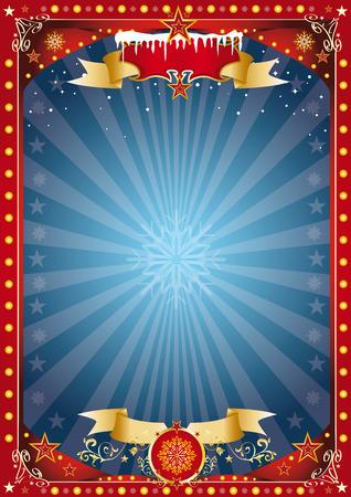 kerst markt: Vrolijke Kerstmis en Gelukkig Nieuwjaar. Een poster op de kerst thema voor uw kerst markt ... Enjoy Stock Illustratie