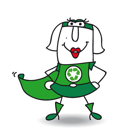 Karen is a super recycling woman. She wants help your company to recycling your wastes Vector