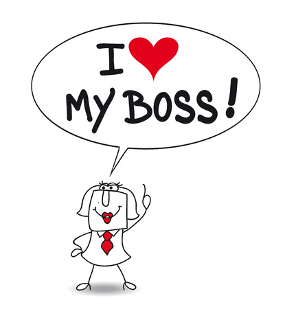 Karen, the businesswoman says That She loves his boss. Is she sincere or is she has Bootlicker?